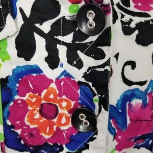 Sportelle Jackets & Coats - Sportelle Blazer L Floral Button 3/4 Sleeve